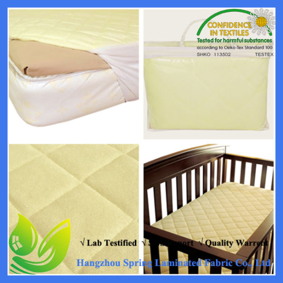 Quilted Waterproof Fitted Baby Crib Mattress Cover pictures & photos