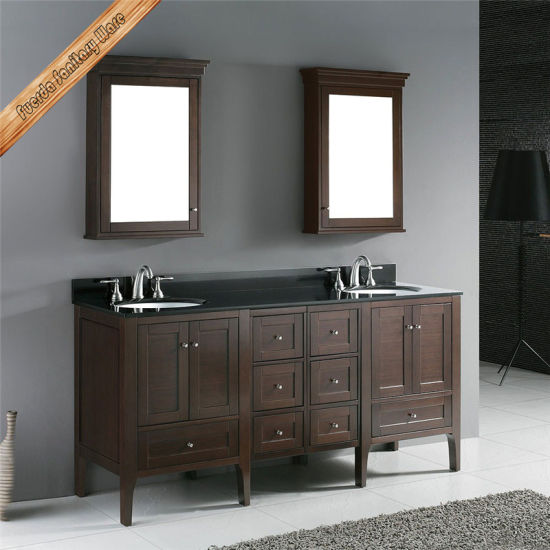 72 Inch Double Sink Basin Solid Wood