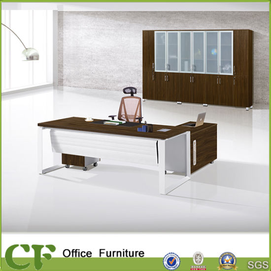 Powder Coating Leg Italian Design Melamine Office Executive Desk for CEO pictures & photos
