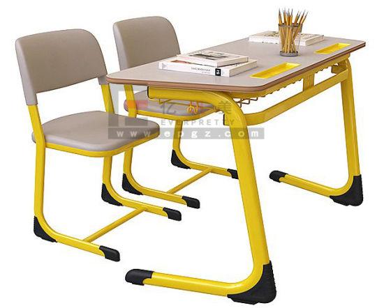 Metal Frame School Classroom Student Wood University Furniture Wholesale Desk Set