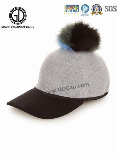 3e3ac8584fb40 Fashion Wool Beautiful Cute Warm Winter Baseball Cap with Pompom. Get  Latest Price