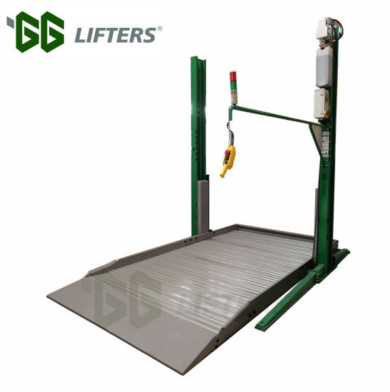 Lifting Height 2100 mm 2.7 Tons Two Post 2 Level Vehicle Garage Car parking Lift