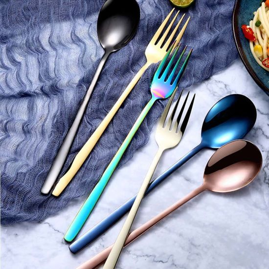 Coffee Rainbow Ice Cream Tableware Upscale Dinnerware Utensils Spoons Scoop
