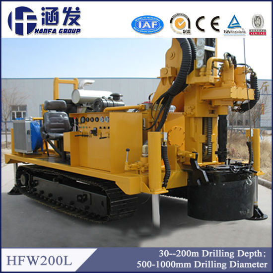 China 200m Depth Portable Hydraulic Water Well Drill Rig for