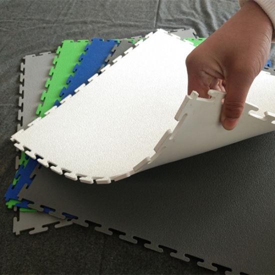 Interlocking Removable Anti-Slip Garage PVC Flooring, Garage Floor Tile, PVC Garage Floor Tile