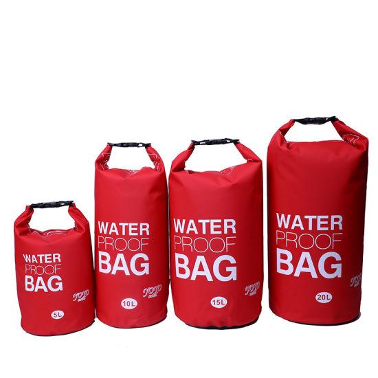 Custom Logo Outdoor PVC Waterproof 2L 10L 20L 30L 50L Ocean Pack Dry Bag (jp-wbs004)