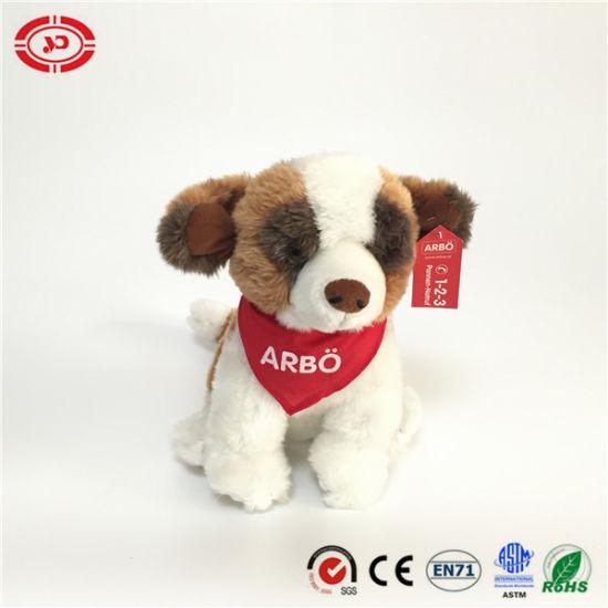 Abbo Lovely Plush OEM Dog Sitting with Sarf Logo Toy