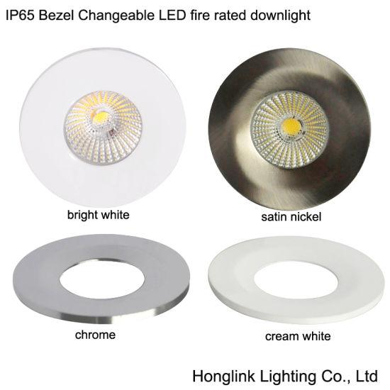 China 8w ip65 bathroom light fire rated led shower light with bezel 8w ip65 bathroom light fire rated led shower light with bezel changeable aloadofball Choice Image