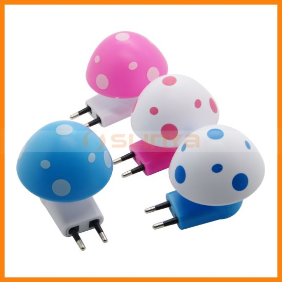 LED EU Plug Mushrooms Sensor Wireless Energy Saving Night Light