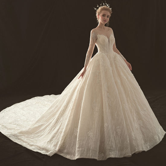 Fashion Sparkly Ladies Girl Women Prom Evening Bridal Dress Wedding Gown Clothing