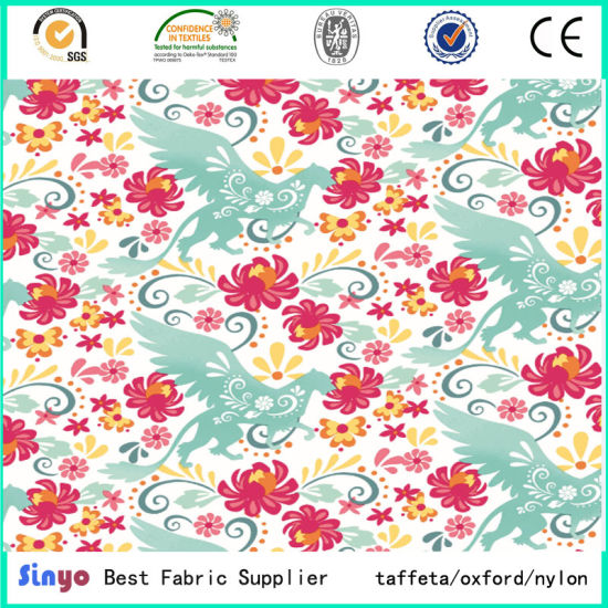 China Durable Polyester Oxford Custom Printed Fabric with