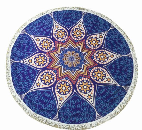 Multi-Purpose Large Circle Mandala Custom Round Beach Towel