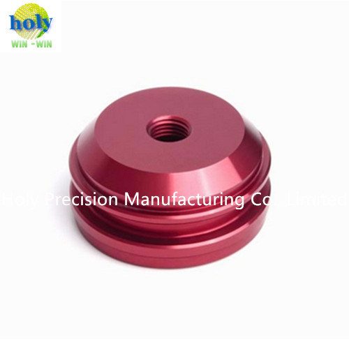 Customized Red Anodized Aluminum CNC Turning Part pictures & photos