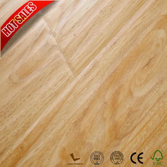 China Cheap Price Swiftlock Handscraped Hickory Laminate Flooring