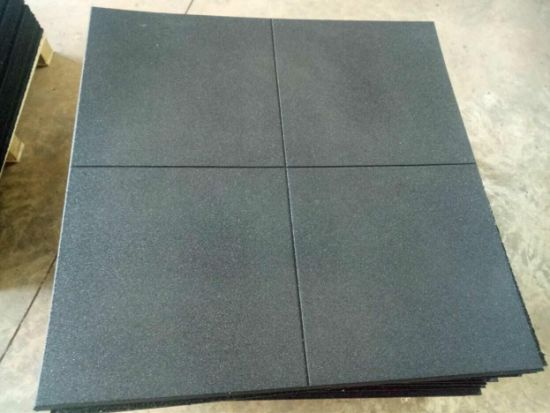 Good Protective Elastic Crossfit Rubber Floor Tile, Rubber Mats for Gym