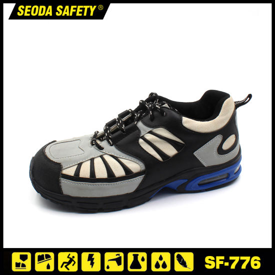 Fashion Suede Leather Rubber Sole Safety Footwear pictures & photos