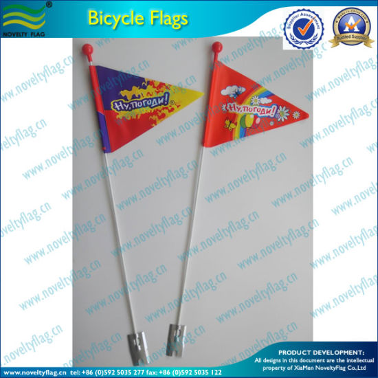Custom PVC Vinyl Plastic Bike Safety Flags (T-NF15P07004) pictures & photos