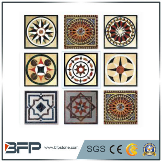 Marble Floor Tile Medallion/Pattern/Mosaic/Carving Stone by Injay Water Jet pictures & photos