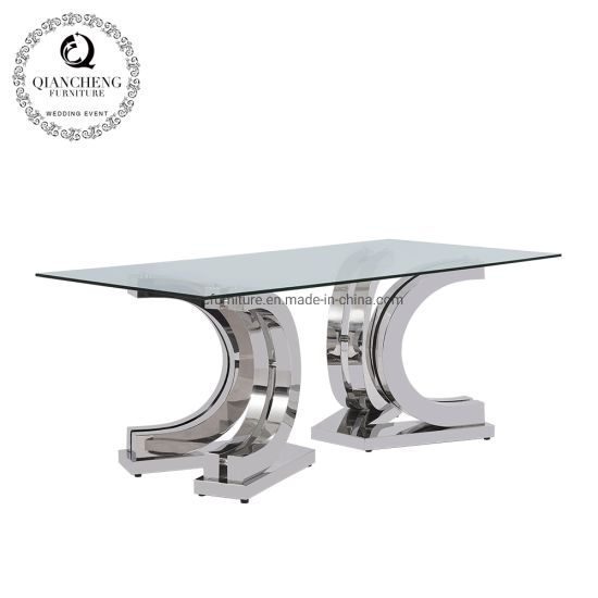 New Dining Table Stainless Steel Furniture Wholesale Price pictures & photos
