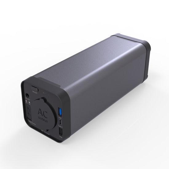 FCC USA Plug 110V/220V AC Output Pd Charge Portable Multi Function Power Bank