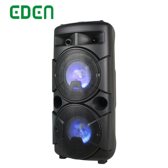 Portable Wireless Professional Rechargeable Multimedia DJ Karaoke Sound Box Trolley Bluetooth PA Speaker with LED Light
