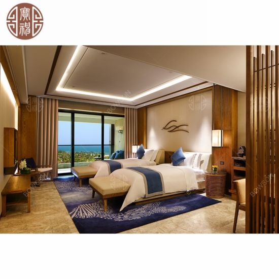 Natural Wooden Vietnam Style Hotel Bedroom Furniture China ...