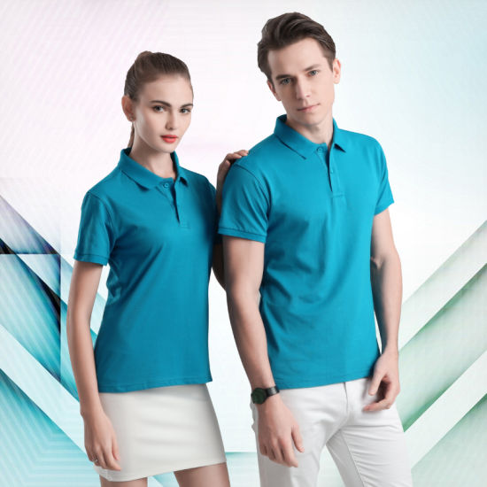 Air-Permeable Printed Men's and Women's Polo Shirts