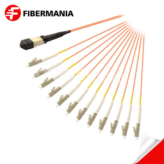 China Supply MPO Female to LC Fanout Cable OM1 Fan-out Optical Cables