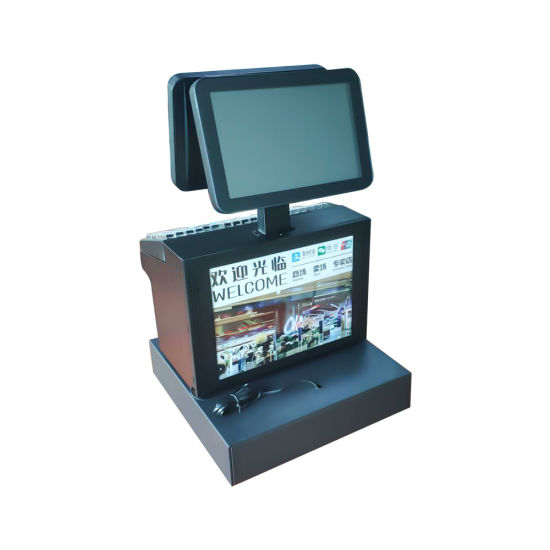 12.1 Inch POS PC Cash Register with POS System Supermarket Barcode Scanner J1900 for Shop POS
