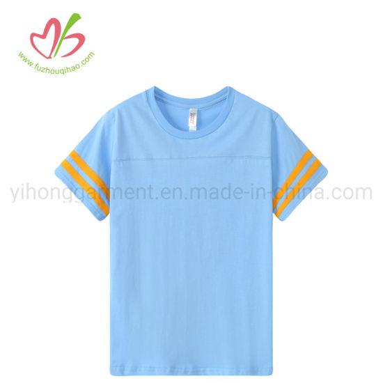 100% Cotton Short Sleeve Round Neck Tee Shirt for Youth