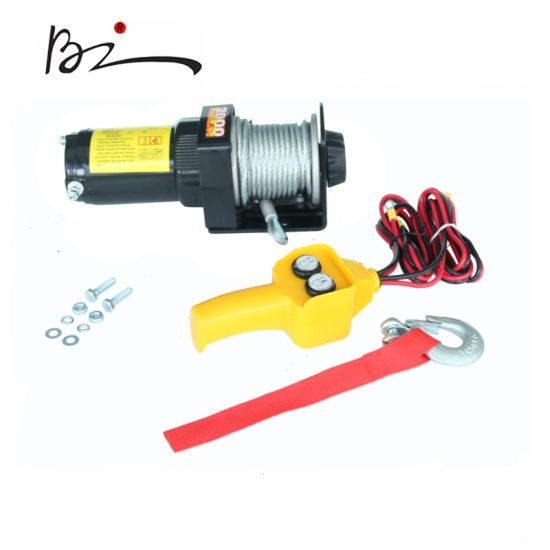 Electric Winch 2000lb with Ce Approved DC12V