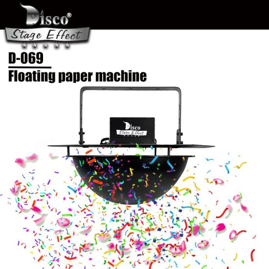 Disco Low Noise Floating Confetti Color Paper Machine for Weeding /Event/Celebration