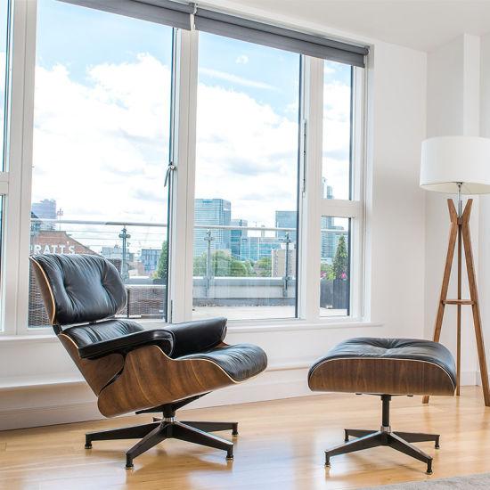 Home Furniture Europe Living Room Leather Leisure Sofa Swivel Chair