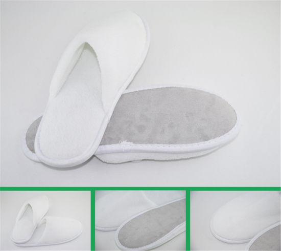 Good Quality Slippers with Suede Fabric Sole