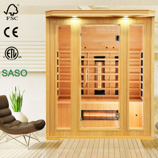 Popular Dry Sauna Made of Hemlock From Canada and Far Infrared Heater, Far Infrared Sauna Room as Health Care Equipment