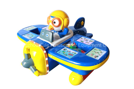 Lovely Plane Kids Pulzze Toy Educational Toy DIY Table