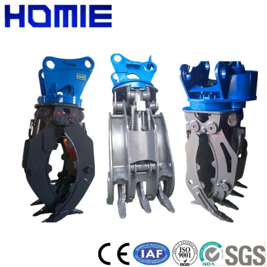 Wholesale Excavator Hydraulic Double Cylinder Wood Grappls