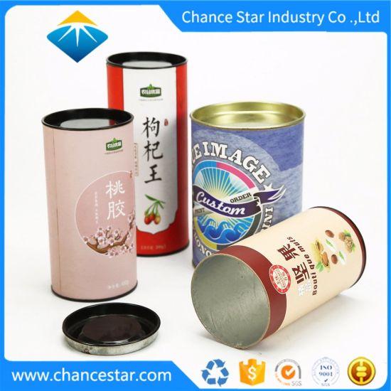 Custom 2 Pieces Telescopic Paper Food Tube Tea Packaging