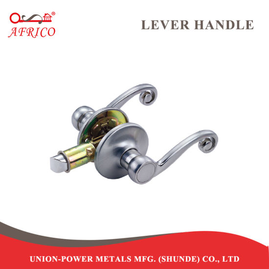 China Tubular Lever Knobset Modern Style Interior Steel Lever Door