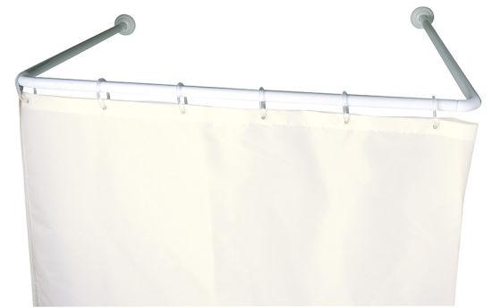 U Shape Shiny Shower Curtain Rod