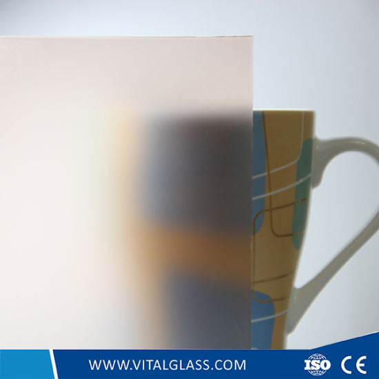 4-12mm Tempered Frosted Glass/Obscure Glass/Acid Etched Building Glass for Decoration pictures & photos