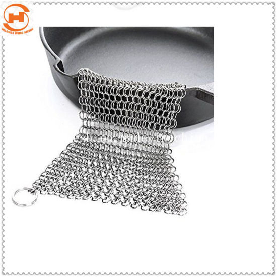Chainmail Cast Iron Pan Scrubber