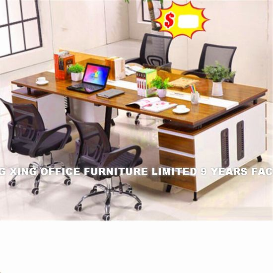 2 Seats Straight Desk Workstation Cluster Staff Office Partition (HX-8NR0521) pictures & photos