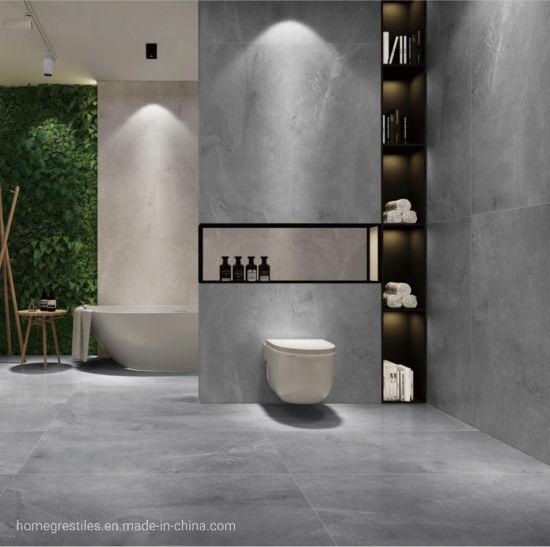 China 600*1200mm Modern Bathroom Light Grey Stone Floor/Wall Porcelain Tiles  - China Floor Tile, Porcelain Tile