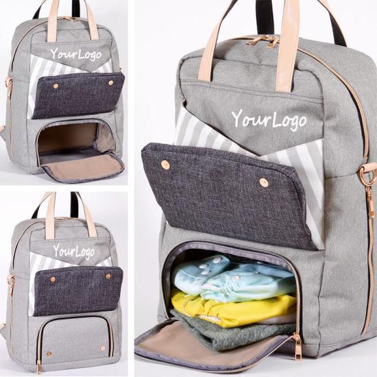 China Baby Stroller Organizer Custom Diaper Bag Mommy Backpack