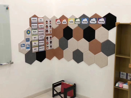 Perforated Carved Polyester Fiber Acoustic Panel for Decoration Wall