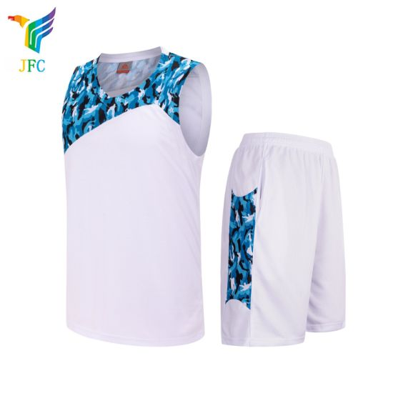 China Jfc 2018 New Design Breathable Basketball Uniform White Cheap