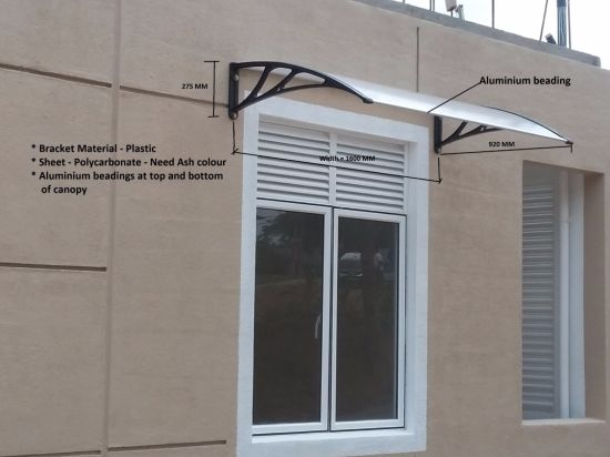 Factory Direct Sales Plastic Products Windows Polycarbonate Awning PC Canopy pictures & photos