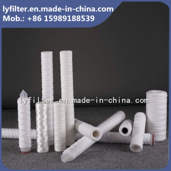 industrial Water Filter PP Sediment String Wound Filter Cartridge with 1 5 10 20 Micron