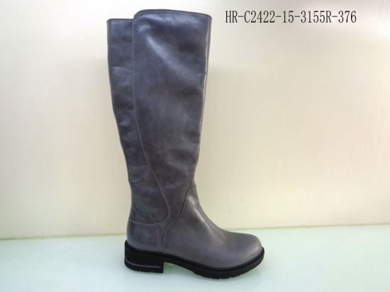 Horse Skin Knee High Leather Boot for Women
